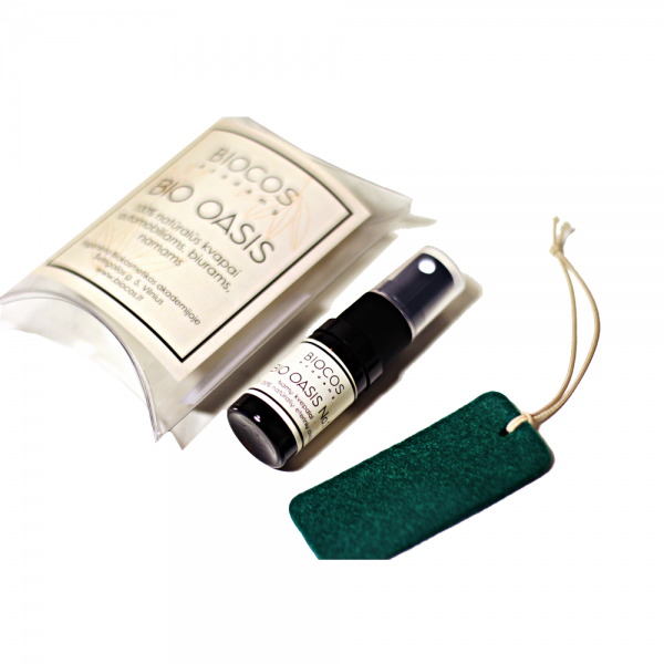 Aromatherapy kit for car: wool diffuser + BIO OASIS fragrance